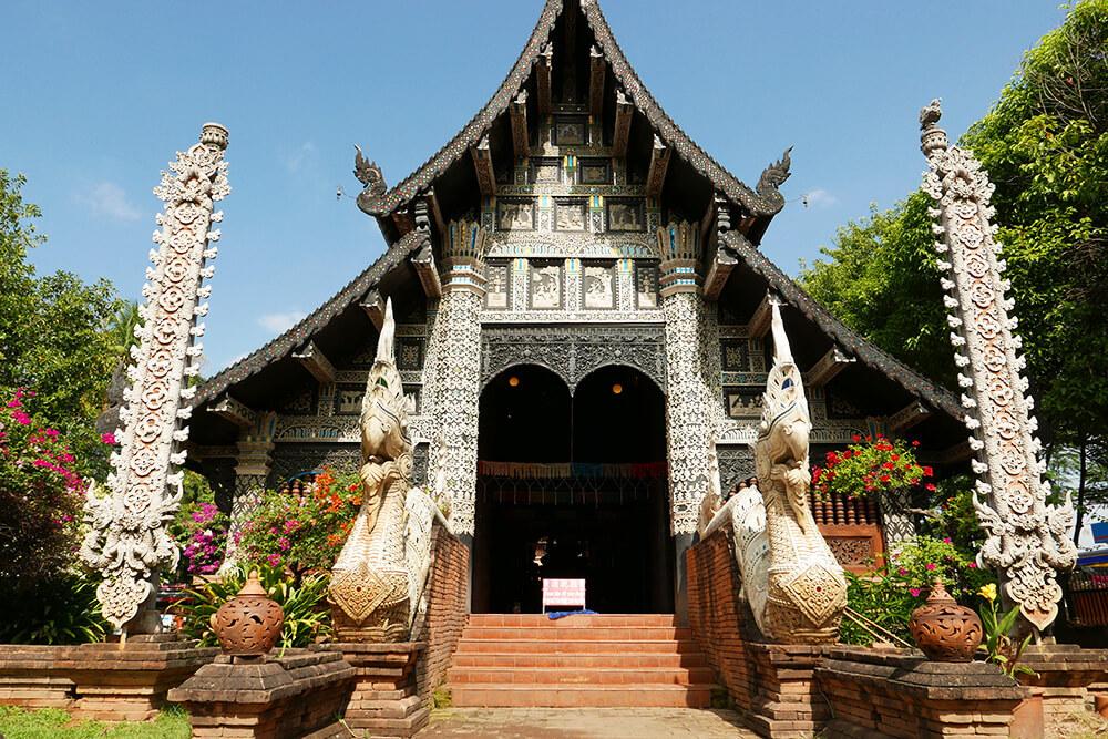 タイ・チェンマイの寺院 ワットロークモーリー Wat Lok Molee 建物