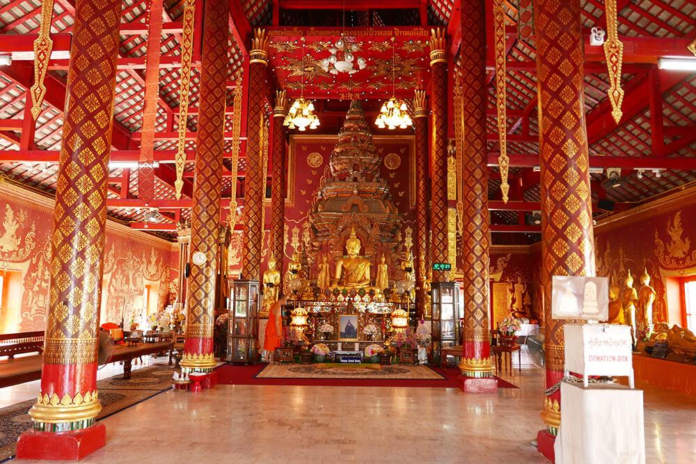 タイ・チェンマイの寺院 ワット・チェン・マン Wat Chiang Man 建物