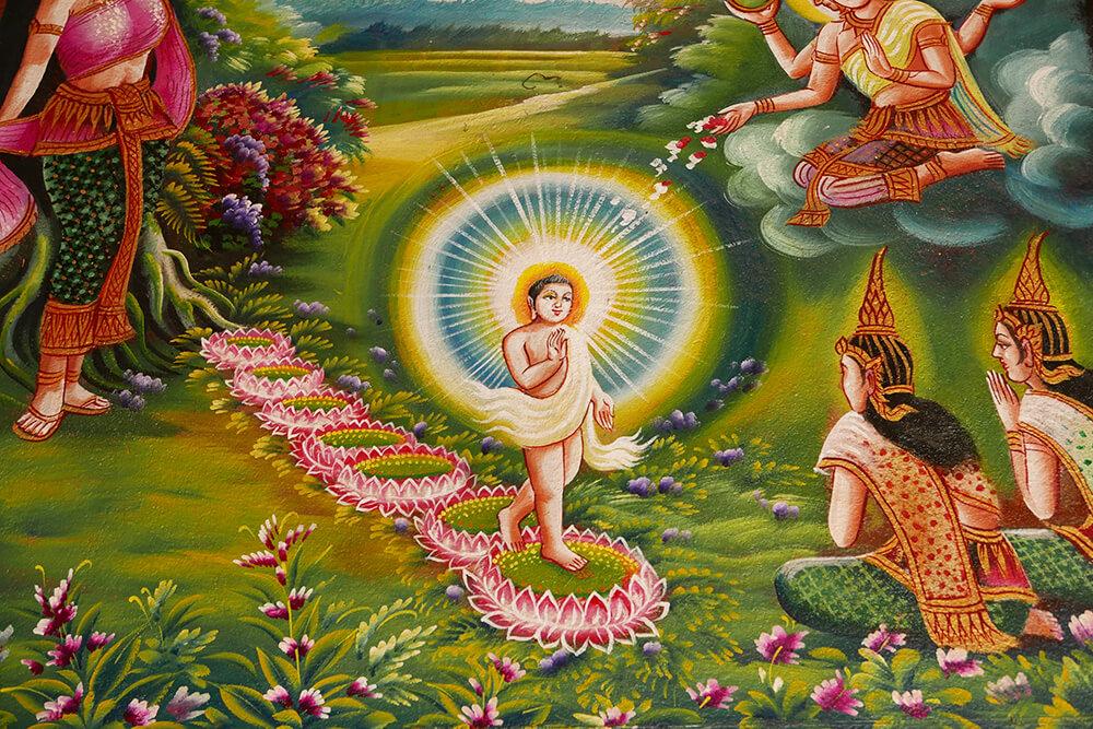 タイ・チェンマイの寺院 ワット・チェン・マン Wat Chiang Man 壁画