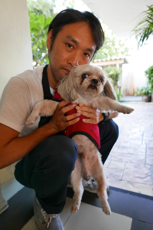 チェンマイ宿泊先の看板犬
