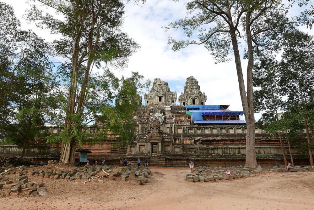 カンボジア・シェムリアップ世界遺産タ・ケウ