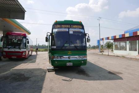 プノンペンからホーチミンに移動したバス